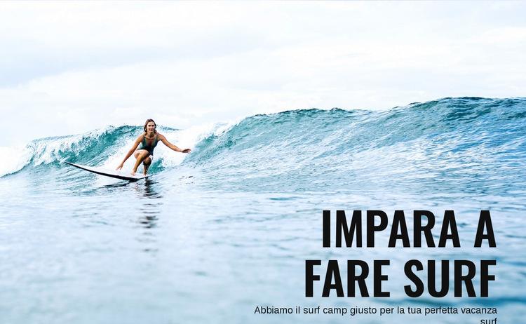 Impara a fare surf in Australia Modello di sito Web