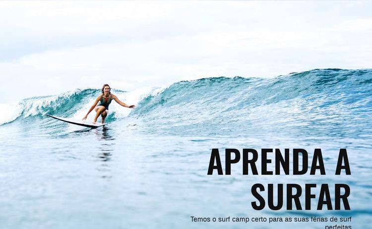 Aprenda a surfar na Austrália Modelo de site