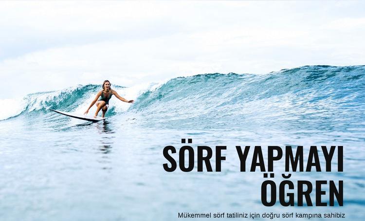 Avustralya'da Sörf Yapmayı Öğrenin Web Sitesi Şablonu