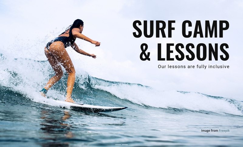Learn to Surf in Australia Web Page Design