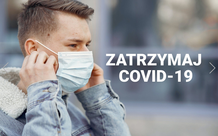 Zatrzymaj Covid-19 Szablon witryny sieci Web