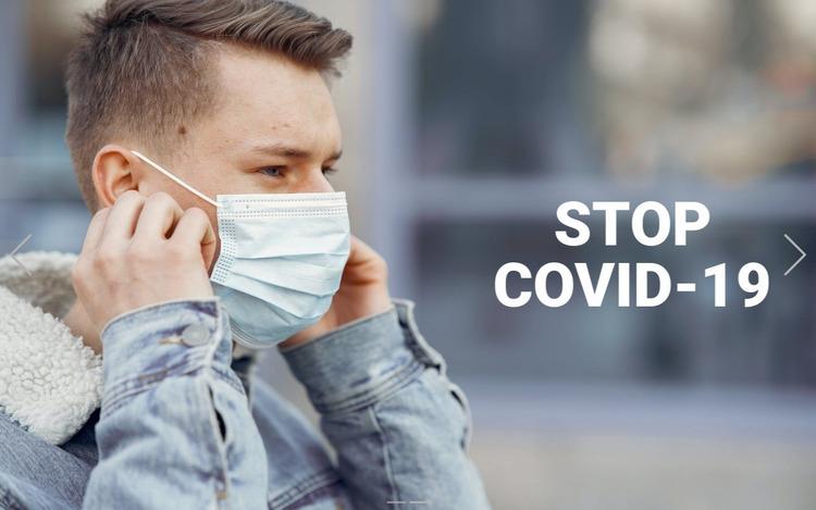 Stop Covid-19 Website Mockup