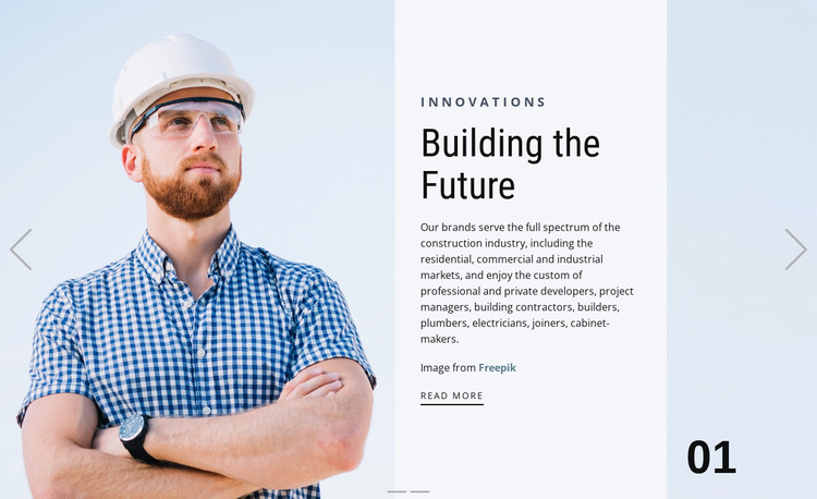 Custom building Website Mockup