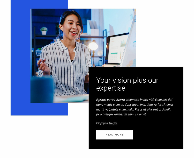 Create a business vision Website Template