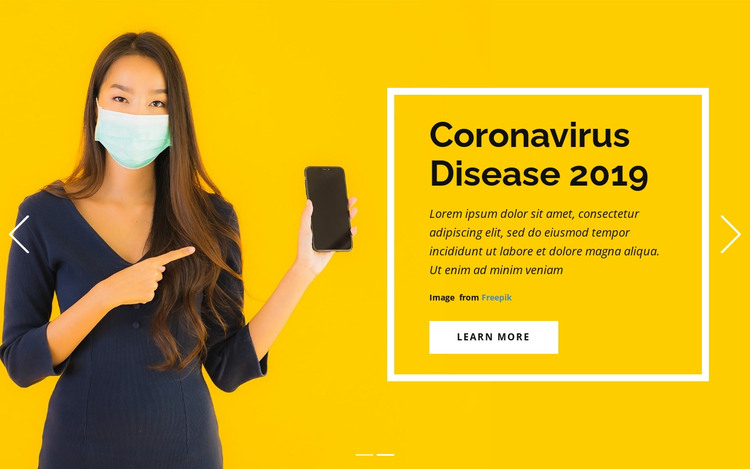 Coronavirus Information HTML Template
