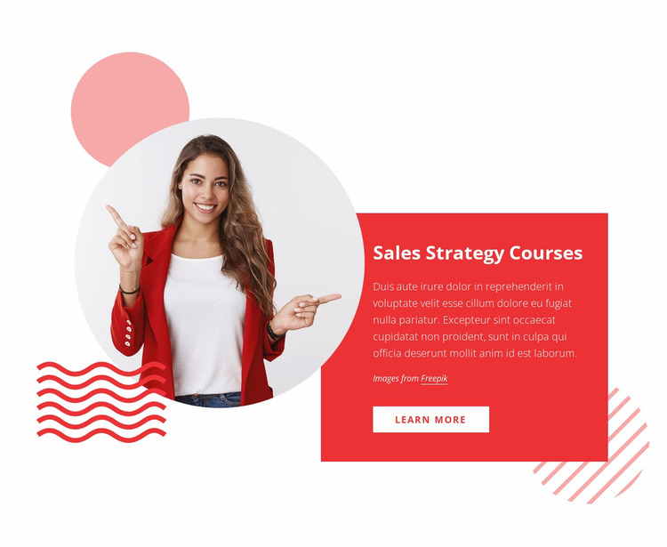 Sales strategy courses Website Mockup