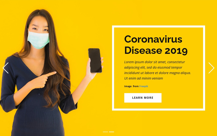 Coronavirus Information Website Mockup