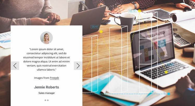 Slider testimonials Website Template