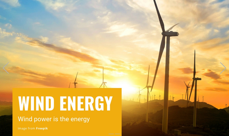 Wind and Solar Energy Web Page Design