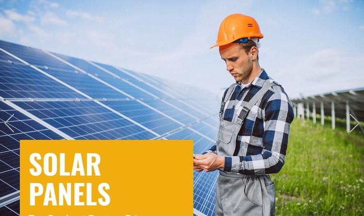 Wind and Solar Energy Wysiwyg Editor Html