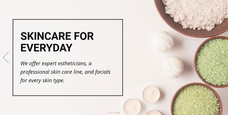 Spa & Massage Homepage Design