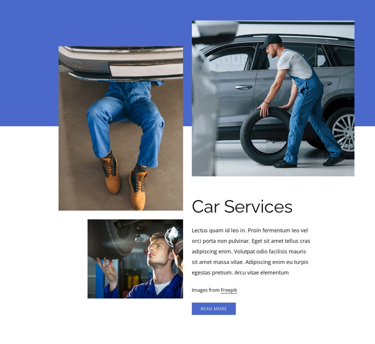 Full car service HTML Template