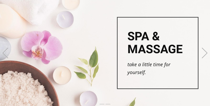 Spa & Massage Web Page Designer