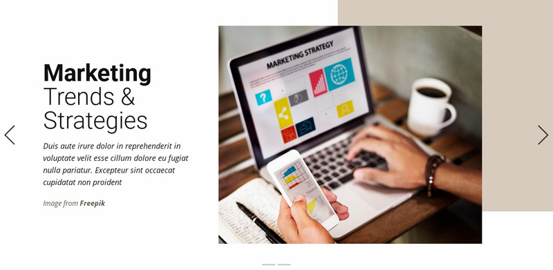 Marketing Trends & Strategies Web Page Designer
