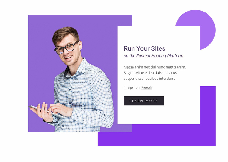 Fast, scalable, secure Website Template