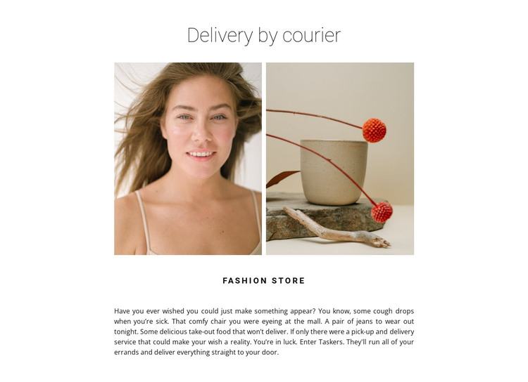 Gallery of two photos HTML Template