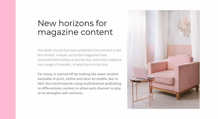 Interior online store Website Template