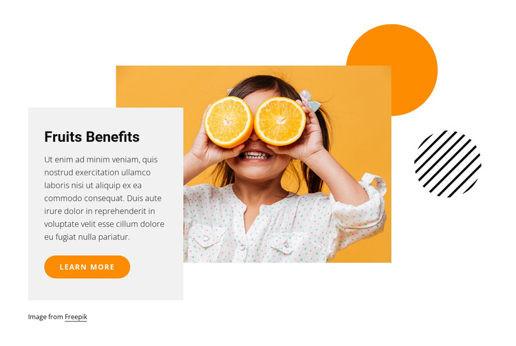 Fruits benefits HTML Template