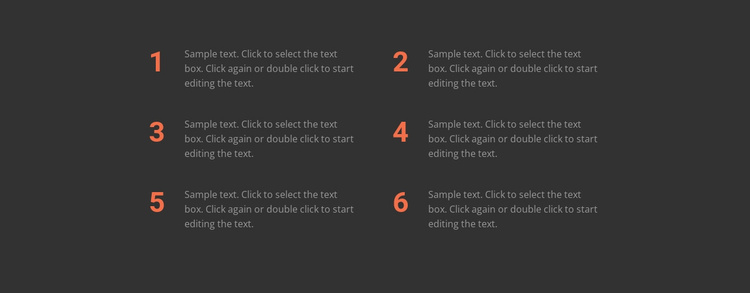 Six important rules Website Template