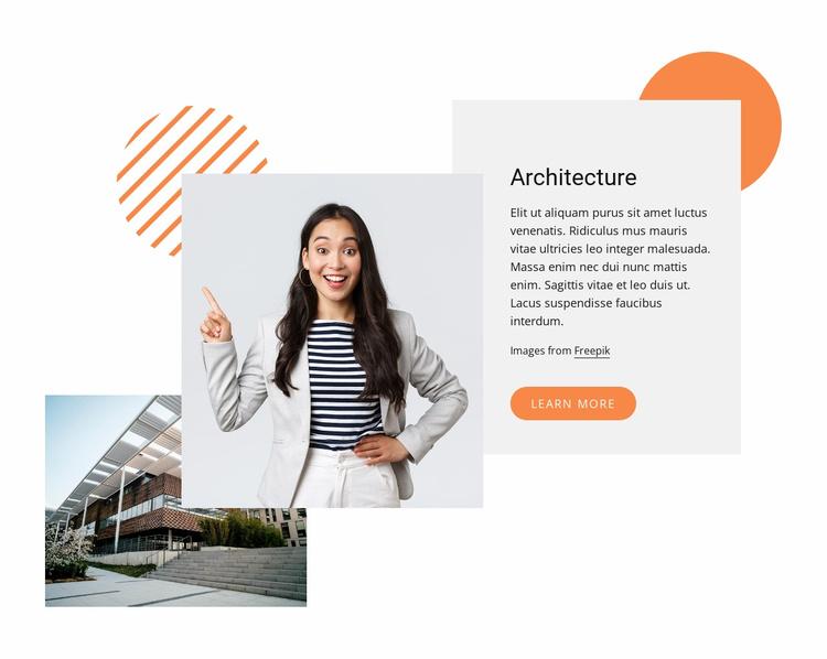 Contemporary architecture Website Template