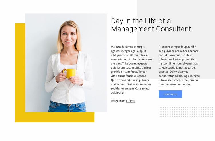 Management consultant Website Template