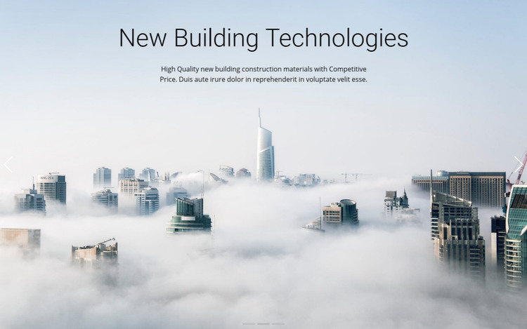 Above the clouds Homepage Design