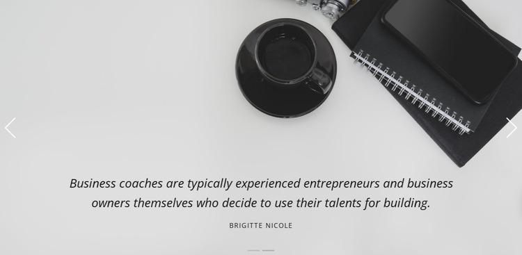 Business studio testimonials  Website Mockup
