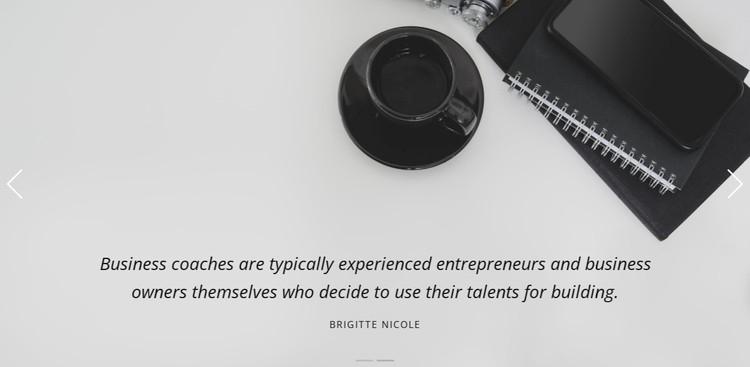 Business studio testimonials  WordPress Template