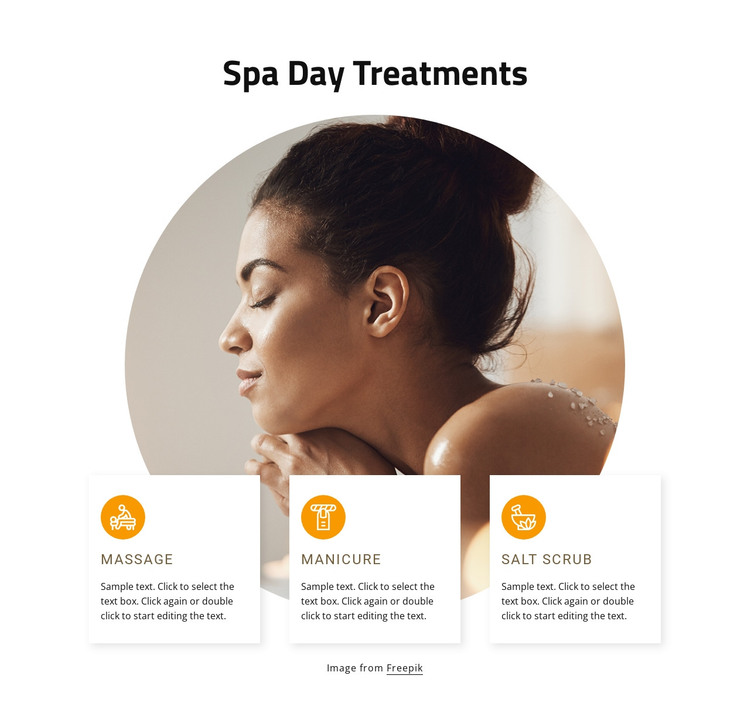 Spa days treatments HTML Template