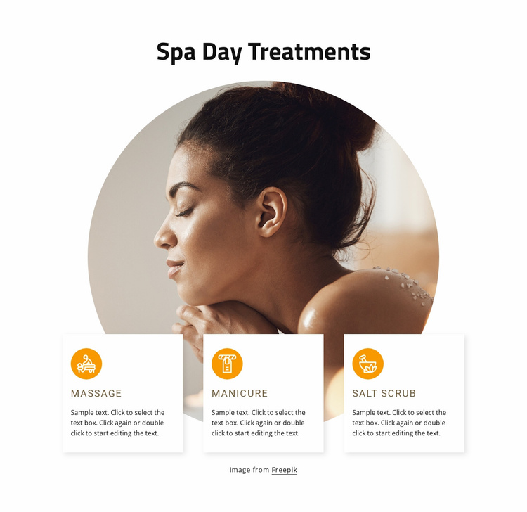 Spa days treatments Website Template