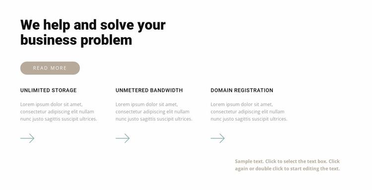 Three professional steps Website Template