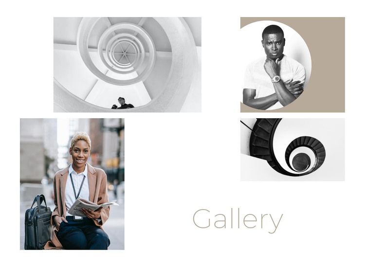 Gallery with four photos HTML Template