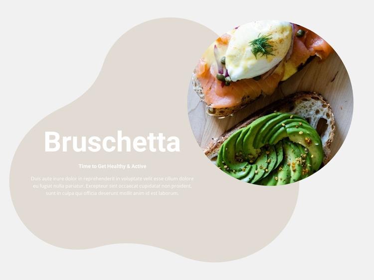 Perfect bruschet HTML Template
