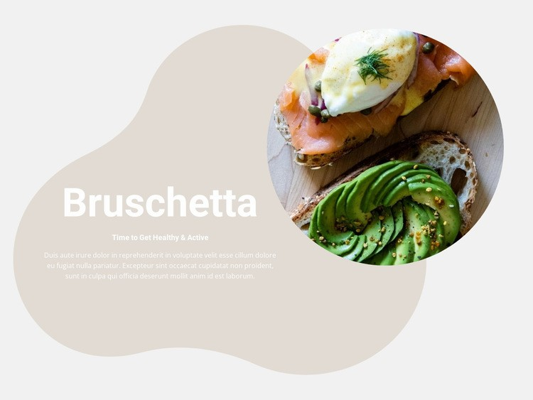 Perfect bruschet Web Page Designer