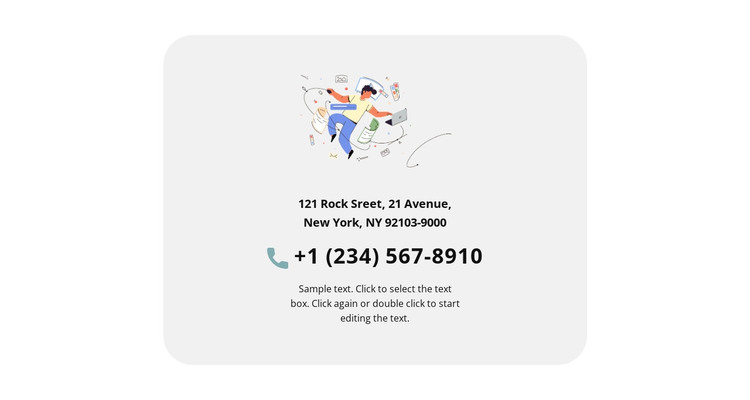 Creative agency contacts HTML Template