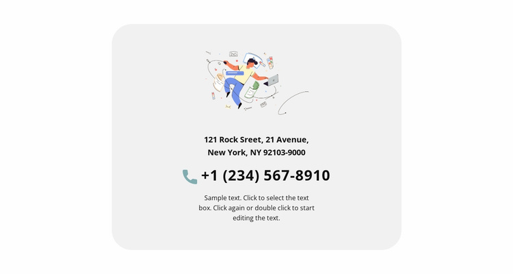Creative agency contacts Website Template