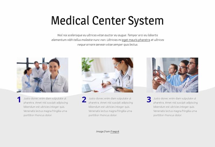 Medical center system Website Template