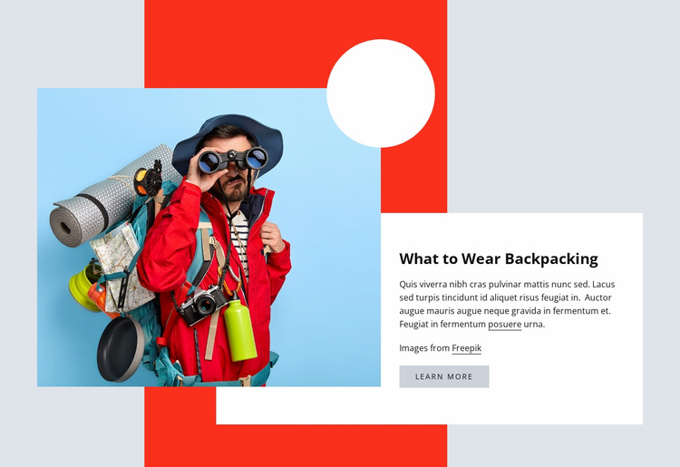 Hiking clothes Website Template
