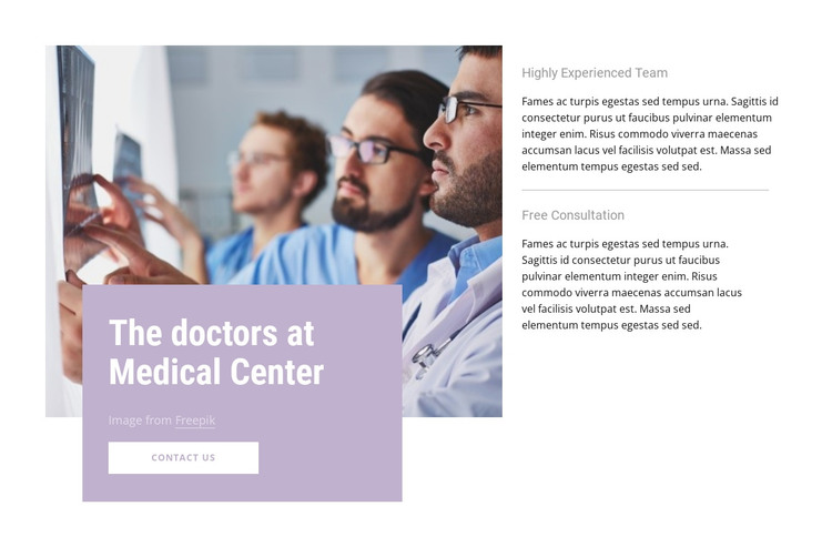 Our doctors HTML Template
