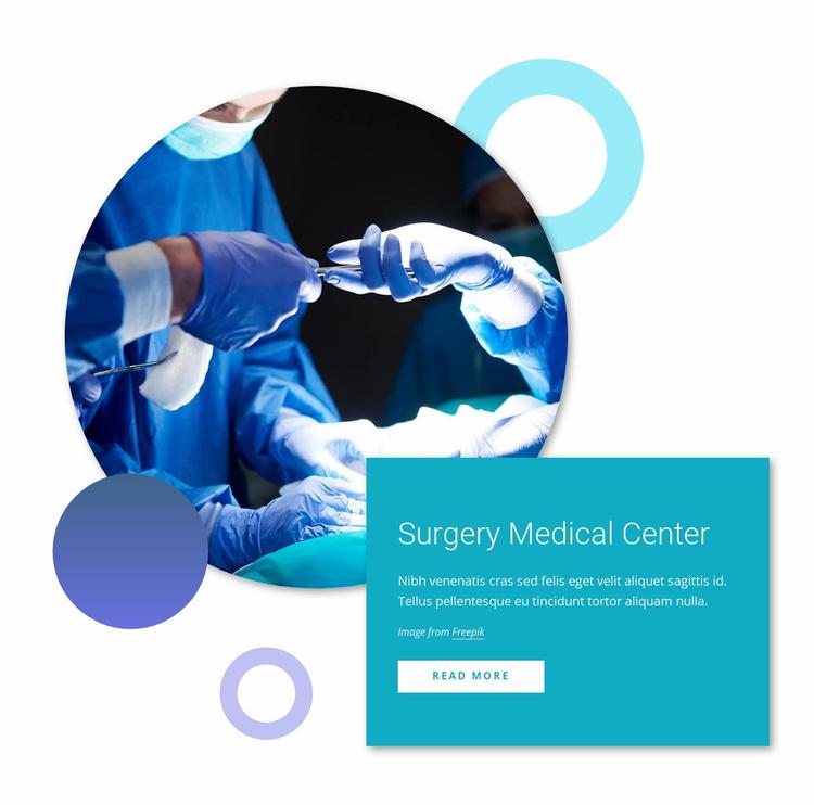 Survery medical center Website Template