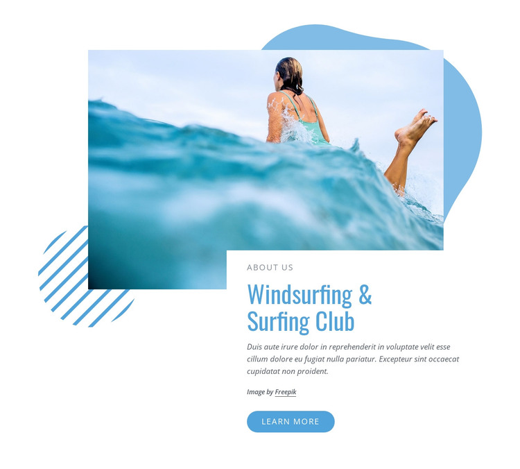 Windsurfing and surfing club HTML Template