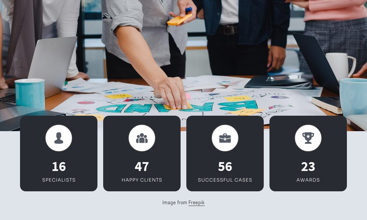 Counters with image HTML Template