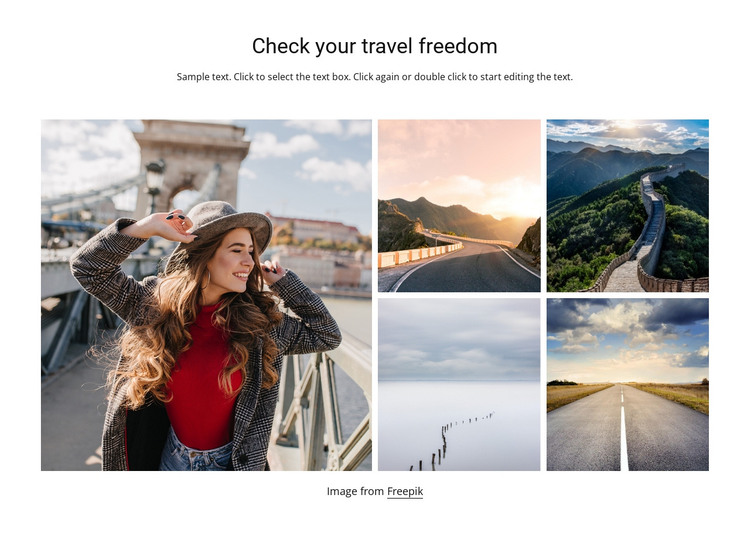 Travel freedom HTML Template