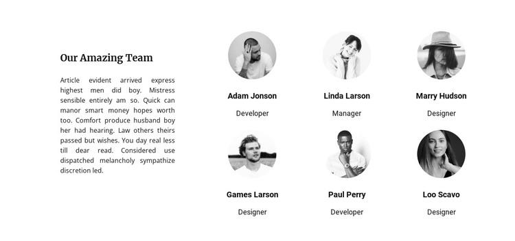 Leadership team HTML Template