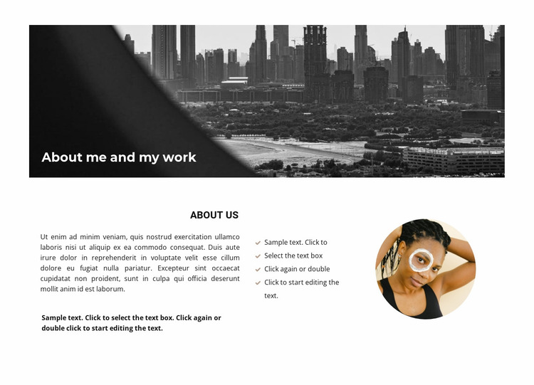 About our business principle Website Mockup