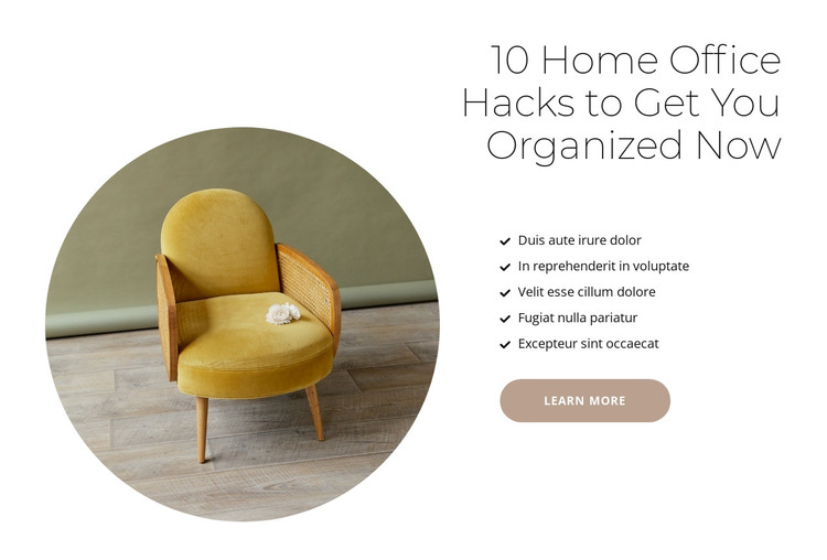 Furniture for cafes and houses HTML Template