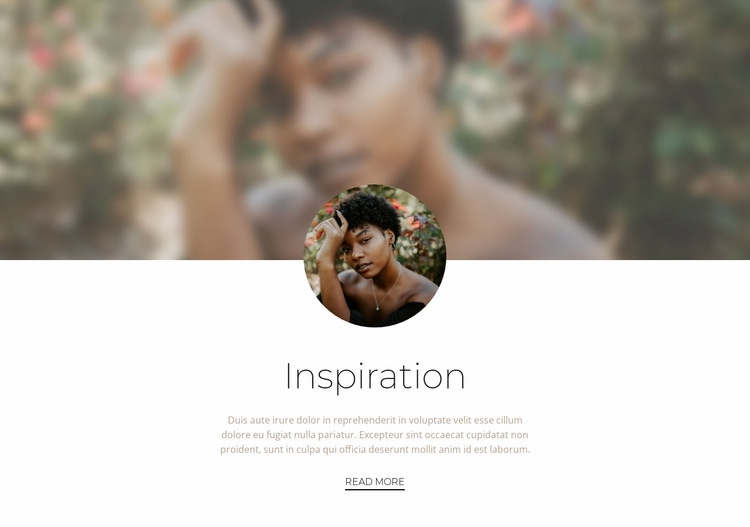 Inspiration for success Web Page Design