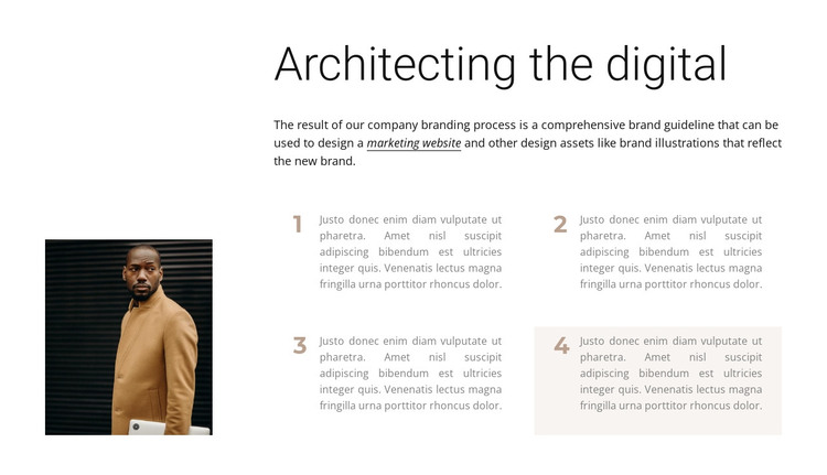 How an architect works HTML Template
