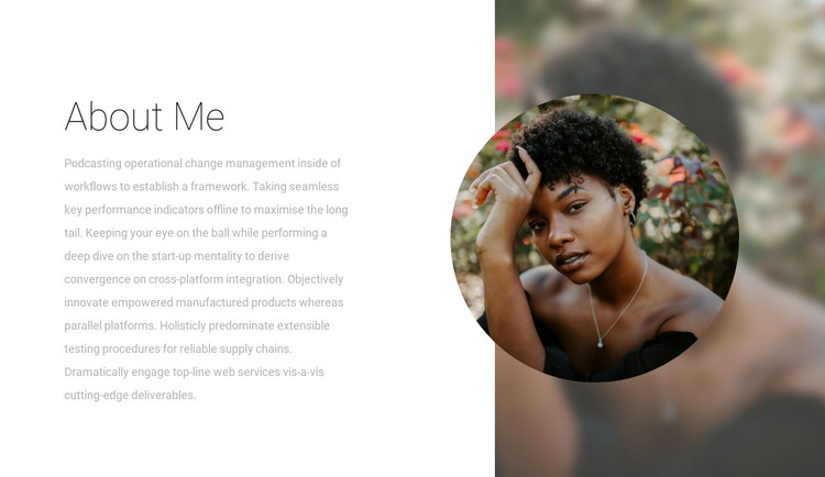 Read about the designer HTML Template