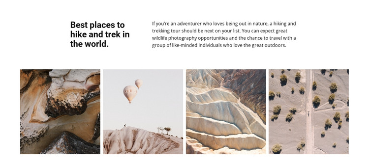 Travel gallery HTML Template